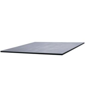 Plateau de table carré coloris béton foncé