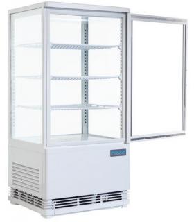 Mini armoire 4 faces vitrées positive - coloris blanc