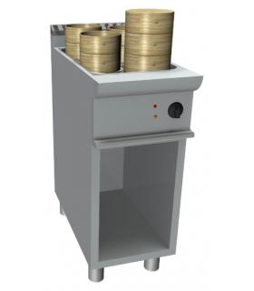 Cuiseur vapeur pour dim sum -24 litres armoire ouverte
