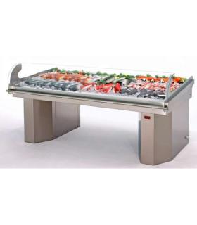 Présentoir réfrigéré à poissons modèle vitre courbée