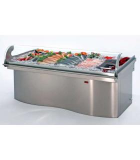 Etal réfrigéré à poissons en inox AISI 304