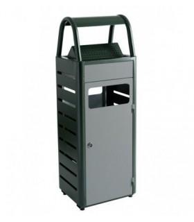 Cendrier poubelle extérieur en acier - Photo non contractuelle