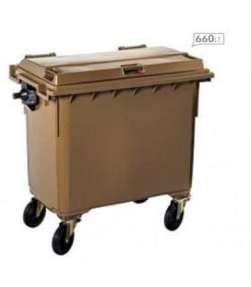 Conteneur plastique 4 roues - Photo non contractuelle