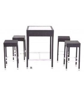 Table avec 4 tabourets