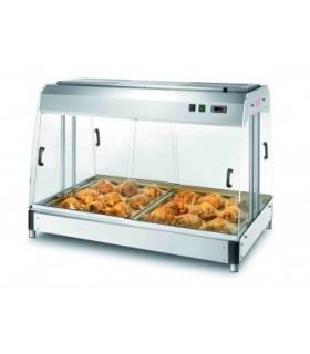 """Présentoir chaud ventilé """"SELF SERVICE"""" avec bacs Gastronorm GN2/1 (inclus)"""
