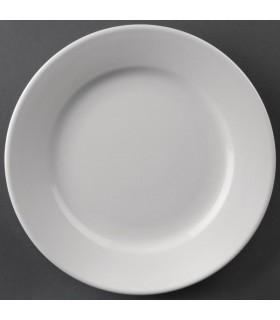 Boîte de 12 assiettes à bords larges 165 mm - Athena Hotelware