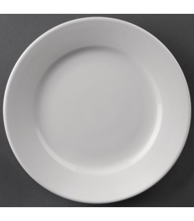Boîte de 12 assiettes à bords larges 254 mm - Athena Hotelware
