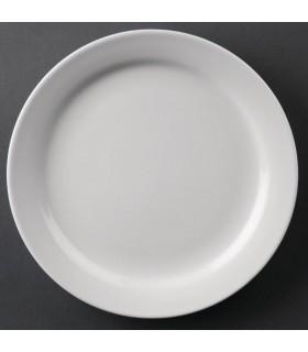 Boîte de 12 assiettes à bords étroits 203 mm - Athena Hotelware
