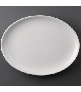 Boîte de 12 assiettes creuses ovales 254 x 278 mm - Athena Hotelware