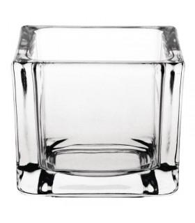 Boîte de 6 photophores carrés en verre - Olympia