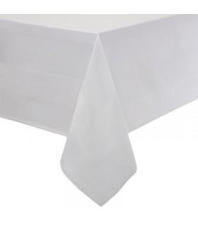 Nappe en coton blanche avec bande de satin 1778mm