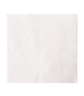 Lot de 5000 serviettes snacking en papier blanches 330mm