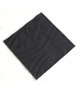 Lot de 240 serviettes noires Lily Duni Elégance 480mm
