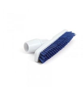 Balai brosse avec adaptateur coudé pour manche bleu - Jantex