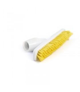 Balai brosse avec adaptateur coudé pour manche jaune - Jantex