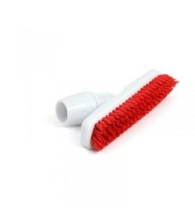 Balai brosse avec adaptateur coudé pour manche rouge - Jantex